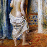 The Bathrobe - 1889, Pierre-Auguste Renoir