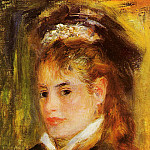 Portrait of a Young Woman - 1876, Pierre-Auguste Renoir