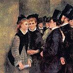 Leaving the Conservatoire - 1877, Pierre-Auguste Renoir