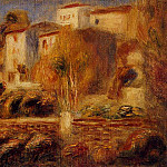 Houses at Cagnes - 1910, Pierre-Auguste Renoir