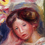 Pierre-Auguste Renoir - Womans Head - 1905