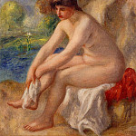Leaving the Bath - 1890, Pierre-Auguste Renoir