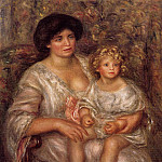 Madame Thurneyssan and Her Daughter - 1910, Pierre-Auguste Renoir