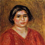 Gabrielle in a Red Blouse - 1913, Pierre-Auguste Renoir