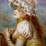 Пьер Огюст Ренуар - Girl in a Lace Hat - 1891
