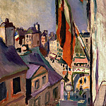 Flag Decorated Street - 1906, Pierre-Auguste Renoir
