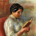 Woman Reading – 1906, Pierre-Auguste Renoir