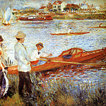 Oarsmen at Chatou - 1879, Pierre-Auguste Renoir
