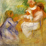Women and Child - 1896, Pierre-Auguste Renoir