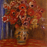 Vase of Tulips and Anemones, Pierre-Auguste Renoir