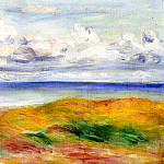 On a Cliff - 1880, Pierre-Auguste Renoir