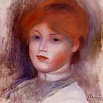 Head of a Young Woman - 1892 -1893, Pierre-Auguste Renoir