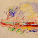 Two Women in a Rowboat, Pierre-Auguste Renoir