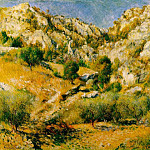 Пьер Огюст Ренуар - Rocky Craggs at lEstaque - 1882