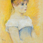 Young Girl in a Blue Corset, Pierre-Auguste Renoir
