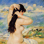 Nude Fixing Her Hair - 1885, Pierre-Auguste Renoir