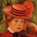 Young Girl in a Red Hat - 1899, Pierre-Auguste Renoir