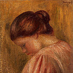 Portrait of a Girl in Red - 1883, Pierre-Auguste Renoir