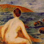 Пьер Огюст Ренуар - Nude Bather Seated by the Sea - 1882