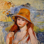 Пьер Огюст Ренуар - Young Woman in a Straw Hat - 1884