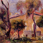 Houses in Cagnes - 1908, Pierre-Auguste Renoir