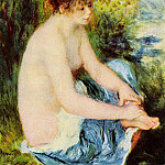 Small Nude in Blue - 1879, Pierre-Auguste Renoir