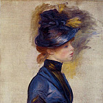 Pierre-Auguste Renoir - Young Woman in Bright Blue at the Conservatory - 1877