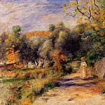 Landscape at Cagnes – 1907 -1908, Пьер Огюст Ренуар