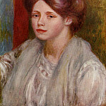 Portrait of a Young Woman - 1883 - 1887, Pierre-Auguste Renoir