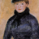 Woman with a Blue Blouse - 1882 - 1883, Pierre-Auguste Renoir