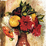 Bouquet of Flowers in an Earthenware Pitcher, Pierre-Auguste Renoir