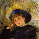 Pierre-Auguste Renoir - Mademoiselle Demarsy (also known as Woman Leaning on Her Elbow) - 1882