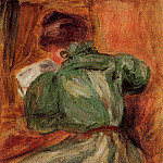 Reader in Green - 1894, Pierre-Auguste Renoir