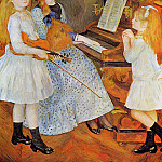 The Daughters of Catulle Mendes - 1888, Pierre-Auguste Renoir