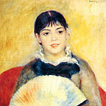Woman with a Fan - 1880, Pierre-Auguste Renoir