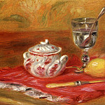 Still LIfe with Glass and Lemon, Pierre-Auguste Renoir