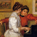 Young Girls at the Piano - 1892, Pierre-Auguste Renoir