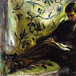 Pierre-Auguste Renoir - Portrait of Edmond Maitre (also known as The Reader) - 1871