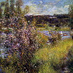 The Seine at Chatou - 1881, Pierre-Auguste Renoir