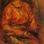 Пьер Огюст Ренуар - Woman in a Red Blouse - 1914