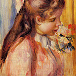 Пьер Огюст Ренуар - Bust of a Young Girl - 1895