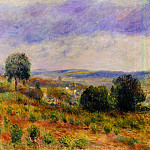 Пьер Огюст Ренуар - Landscape - Auvers-sur-Oise - ок 1901