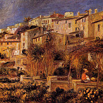 Terraces at Cagnes - 1905, Pierre-Auguste Renoir