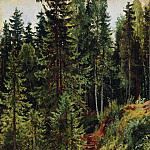 path in the woods 55h34, Ivan Ivanovich Shishkin