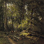 herd in the woods 1864 105H140, Ivan Ivanovich Shishkin