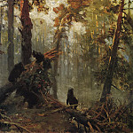 Ivan Ivanovich Shishkin - Morning in the AS. forest. Sketch 1889 28, 3h40, 1