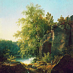 View on the island Valaame1858 66, 5h56, Ivan Ivanovich Shishkin