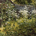 Area overgrown garden. Ground-grass 1884-54, 3h41, 7, Ivan Ivanovich Shishkin