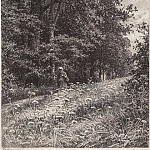 On the forest boundary line. 1878 23h17, Ivan Ivanovich Shishkin