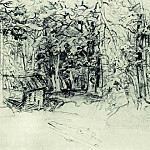 Ivan Ivanovich Shishkin - Sketch for the painting in 1898 1898 39, 6h51, 7